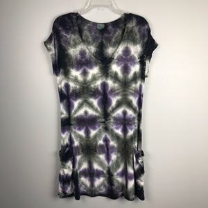 Lucky Tie Dyed swimsuit coverup XS/S Purple